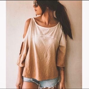 Free people ombre cold shoulder top